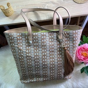 StellaDot Tan Cork Design Tote Bag